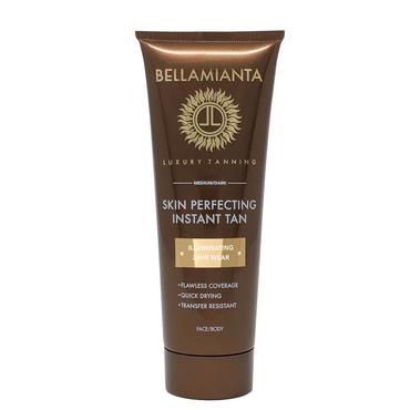 BELLAMIANTA SKIN PERFECTING INSTANT TAN ILLUMINATING 24 HOUR WEAR FACE & BODY MED/DARK