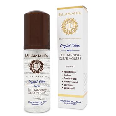 BELLAMIANTA CRYSTAL CLEAR RAPID SELF TANNING CLEAR MOUSSE FACE/BODY 150ML