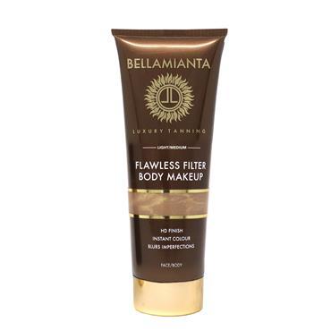 BELLAMIANTA FLAWLESS FILTER MAKE UP FACE & BODY MED/DARK 150ML