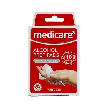 MEDICARE ALCOHOL PREP PADS 10S