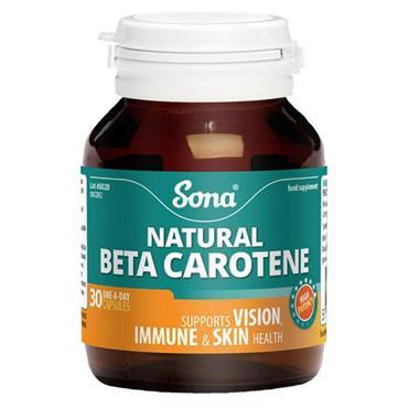 Sona Beta Carotene capsules 30