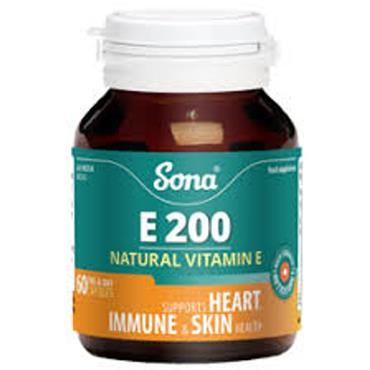Sona Vitamin E 200mg capsules 30
