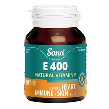 Sona Vitamin E 400mg capsules 30