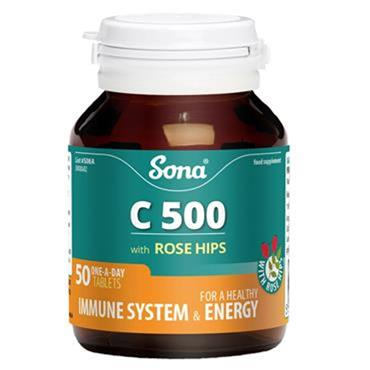 Sona Vitamin C 500mg with Rosehip tablets 50