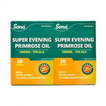 Sona Super Evening primrose oil 1000mg double pack capsules