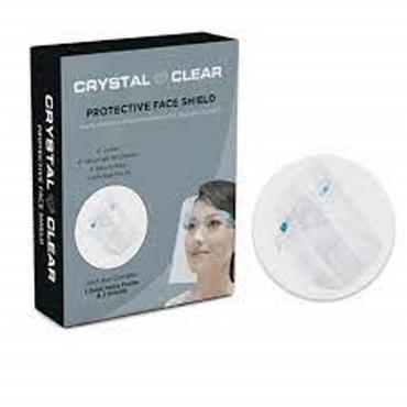 CRYSTAL CLEAR PROTECTIVE FACE SHIELD ONE FRAME 3 SHIELDS