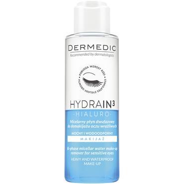 dermedic HYDRAIN3 HIALURO two-phase micellar make-up remover 115ml