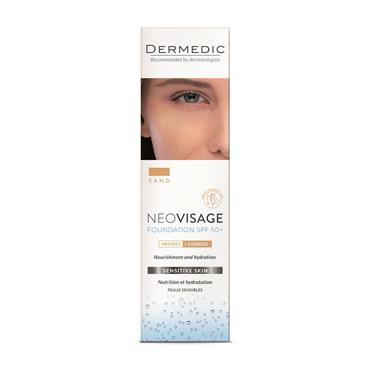 dermedic NEOVISAGE nourishing and moisturizing foundation SPF 50+ SAND 30ml