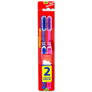 COLGATE DOUBLE ACTION TOOTHBRUSH 2 PACK