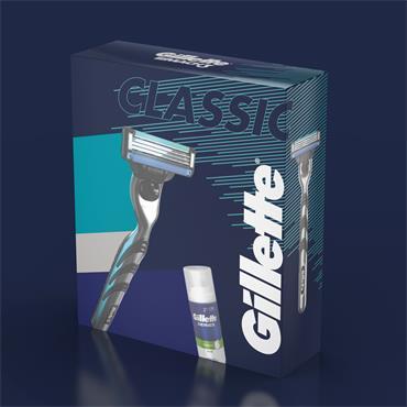 GILLETTE CLASSIC MACH 3 RAZOR 1UP & 100ML SERIES FOAM