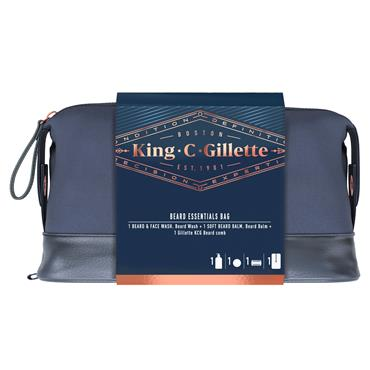 GILLETTE KING C DOUBLE EDGE 5CT RAZOR  & 150ML SHAVE GEL
