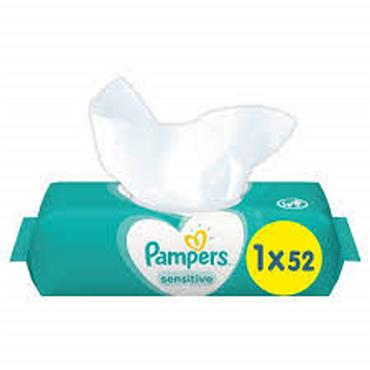 Pampers Sensitive wipes 52