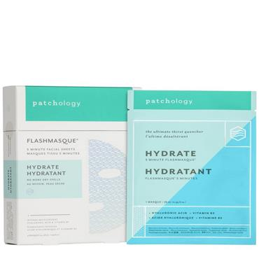 PATCHOLOGY FLASHMASQUE 5 MINUTE SHEET MASK HYDRATE 4 PACK