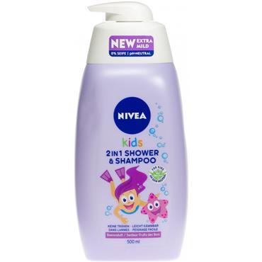 NIVEA KIDS 2 IN 1 SHOWER & SHAMPOO SPARKLE BERRY SCENT