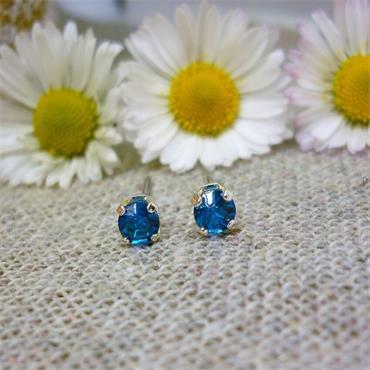 Earsense December Birthstone Stud Earrings