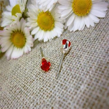 Earsense July Birthstone Stud Earrings