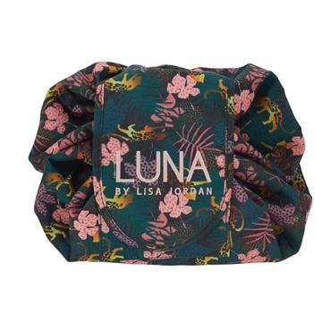 Luna by Lisa Jordan Make up bag Floral Leopard