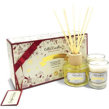 CELTIC CANDLES GIFT BOX MINI CINNAMON AND WINTER BERRIES