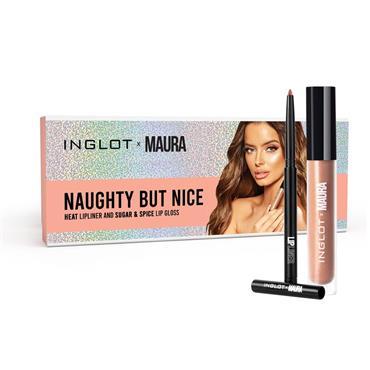 INGLOT X MAURA NAUGHTY BUT NICE LIPGLOSS & LIPLINER SET