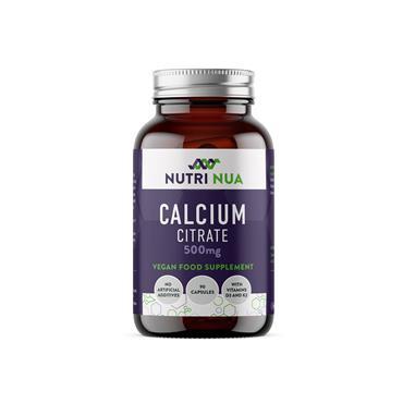 Nutri Nua Calcium Citrate 500mg Vegan Capsules 90s