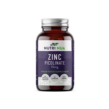 Nutri Nua Zinc Picolinate 15mg Vegan Capsules 60s