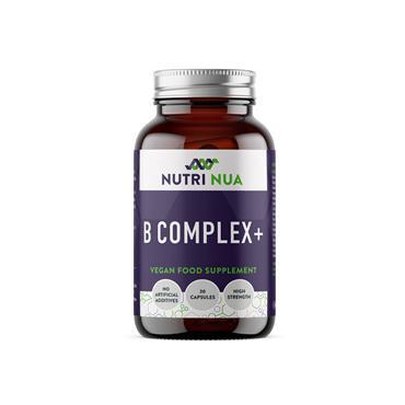 Nutri Nua B Complex + with Vit C Vegan Capsules 30s