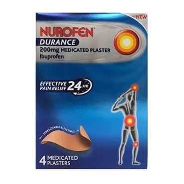 Nurofen Durance 200mg medicated Plaster 4 pack