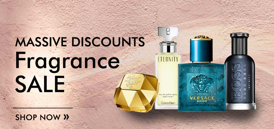 Massive discounts in our fragrance sale