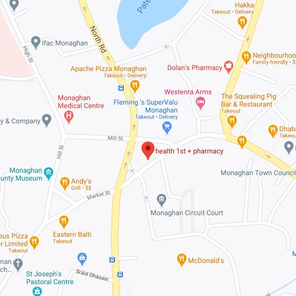 Health 1st Pharmacy location map