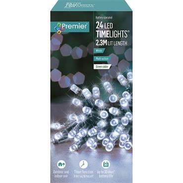 24 MULTI ACTION B-O WHITE LEDS LIGHTS