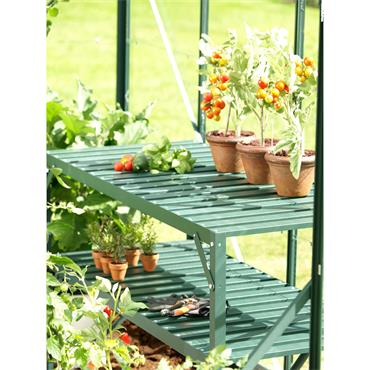 GREENHOUSE STAGING 2 TIER - GREEN