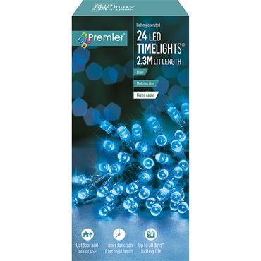 24 MULTI ACTION B-O BLUE LEDS LIGHTS
