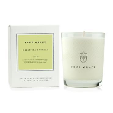 TRUE GRACE VILLAGE CANDLE GREEN TEA & CITRUS