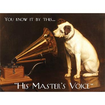 SIGN LARGE MASTERS VOICE