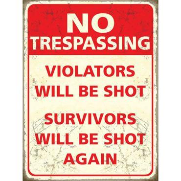 SIGN LARGE TRESPASSERS