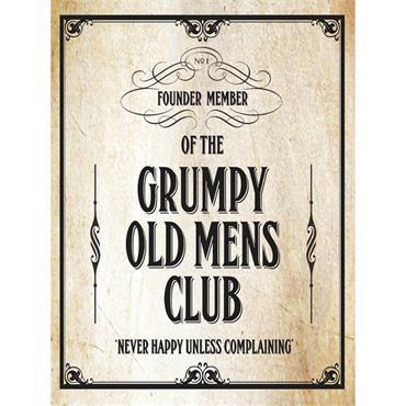 SIGN LARGE GRUMPY CLUB