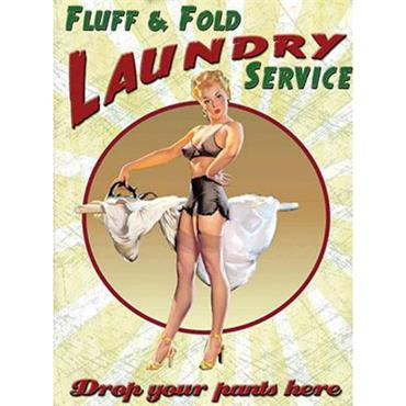 SIGN LARGE LAUNDRY SERVICE