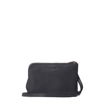 O MY BAG LOLA BLACK CROCO SOFT GRAIN AND CLASSIC LEATHER