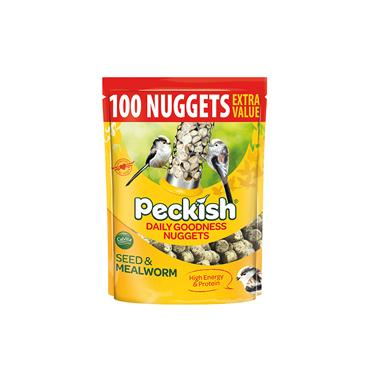 PECKISH EXTRA GOODNESS 100 NUGGETS POUCH