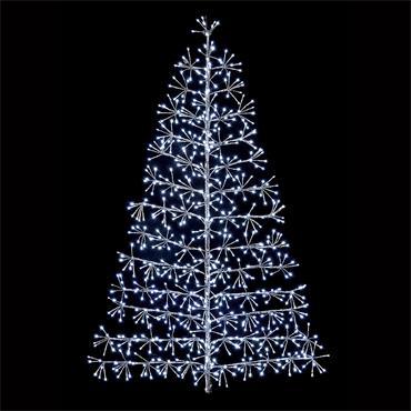 TREE STARBURST WHITE 496 LED