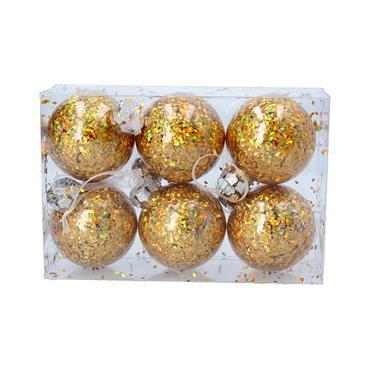GISELA GRAHAM BALL HOLOGRAM GOLD BOX/6