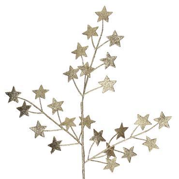 GISELA GRAHAM STAR BRANCH GOLD GLITTER