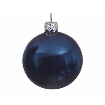 KAEMINGK BAUBLE GLASS NIGHT BLUE 10CM