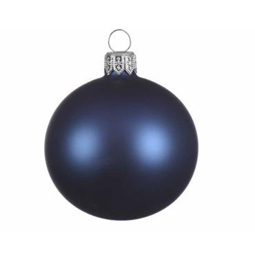 KAEMINGK BAUBLE GLASS NIGHT BLUE 8CM