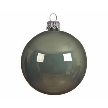 KAEMINGK BAUBLE GLASS SAGE GREEN 8CM