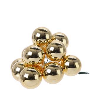 KAEMINGK KAEMINGK BAUBLES GLASS LIGHT GOLD 2.5CM
