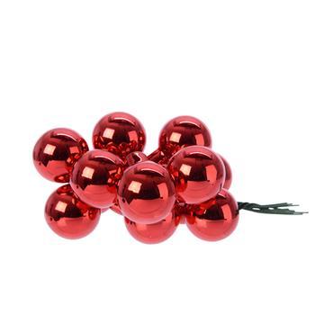 KAEMINGK KAEMINGK BAUBLES GLASS XMAS RED 2.5CM
