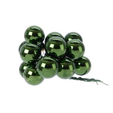 KAEMINGK KAEMINGK BAUBLES GLASS PINE GREEN 2.5CM
