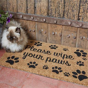 OUTDOOR MAT WIPE YOUR PAWS
