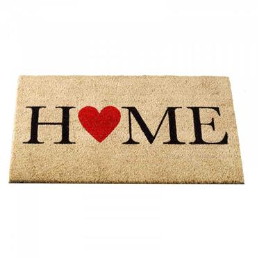 OUTDOOR MAT HOME IS WHERE THE HEART